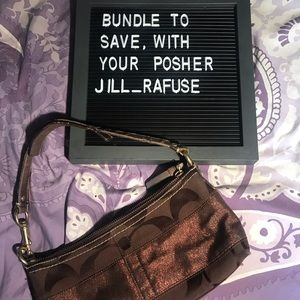 Authentic baby coach purse